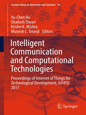 cover image of Intelligent Communication and Computational Technologies